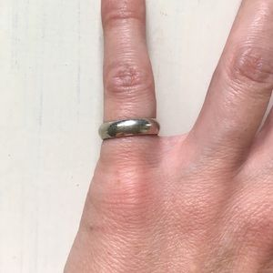 Jewelry - 💍925 Sterling Silver Ring Simple Plain Shiny Band